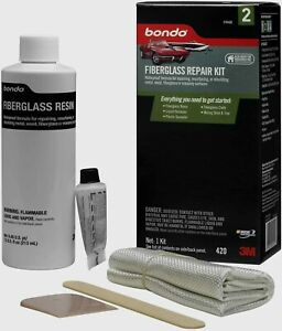 Bondo Auto Body Fiberglass Repair Kit Metal Wood Fiberglass Masonry 420 New