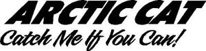 Arctic Cat Catch Me If You Can 2 Decal Vinyl Sticker Set Any Color 11 x48 large