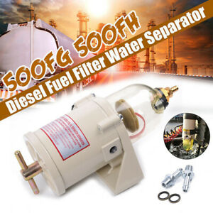 Marine Trucks Fuel Racor Filter Oil Water Separator With Bolt 500fg 500fh New