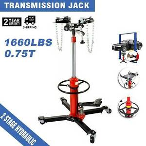 1660lbs 360 2 Stage Hydraulic Transmission Jack Stand Lifter Hoist For Car Lift