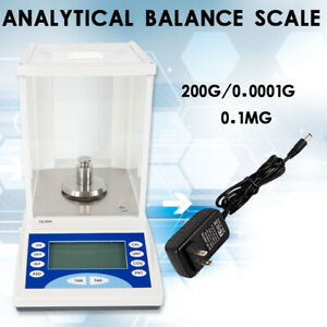 Digital Analytical Balance High Precision Electronic Scale 200 X 0 0001g Lcd