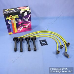 Accel 7911y 300 Yellow Thundersport Ferro Spiral 8mm Spark Plug Wire Set