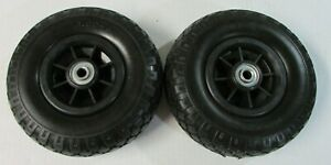 2 tubless Flat Free 3 00 4 9 Tire Wheel Hand Truck Tire Dolly 1 2 Id Bearing