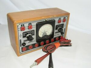 Wwii era Vintage Radio City Products Co Multitester Model 446 W Cables