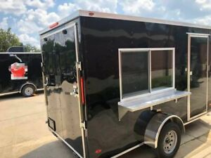2019 6 X 12 Freedom Food Concession Trailer Turnkey Mobile Kitchen For Sale