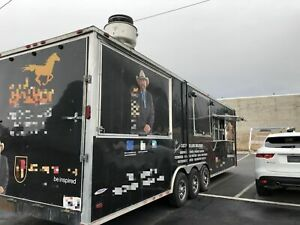 2017 8 X 38 Freedom Bbq Food Concession Trailer With Restroom Mobile Kitch