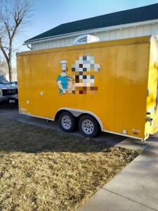 2015 8 5 X 16 Pizza Concession Trailer Used Food Trailer For Sale In Iowa