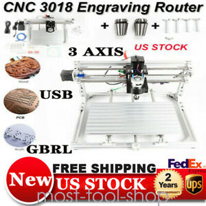 Cnc3018 Diy 12w Mini Laser Engraver Cutter Wood Engraving Pvc Pcb Carve Maching