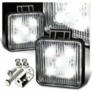 Universal White Square Led 12v 15w Suv Truck Boat Off Road Work Light Bar 2pcs