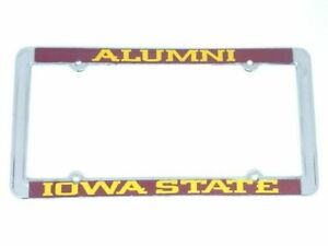 Iowa State Cyclones Alumni Raised Letters Chrome License Plate Frame