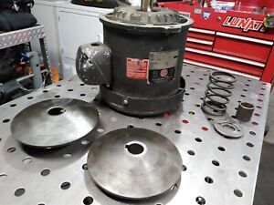 2hp Bridgeport Cnc milling Machine Motor with Variable Speed Pulleys 240v 3phase