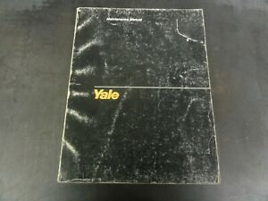 Yale Erp 030 035 040 Tce Electric Rider Fork Lift Trucks Maintenance Manual 1456