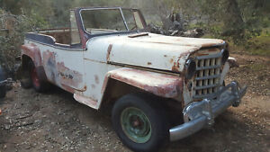 Willys Overland Jeep Convertible 6 Cylinder Project Car Parts Car Jeepster