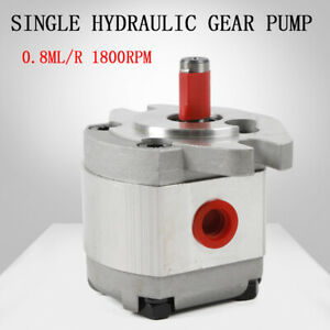 Single Hydraulic Gear Pump Aluminum Alloy Sae Flat Key 0 8ml r 4300 Rpm 21mpa Us
