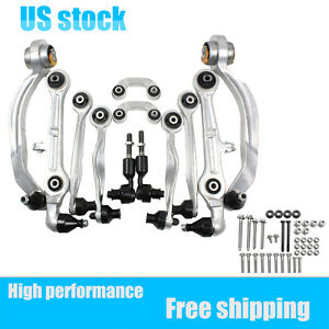 12pcs For Audi A4 Quattro S4 Control Arms Tie Rod Ends Sway Bar Links Front Kit