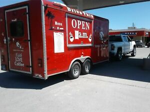 2015 8 X 18 Cargo Craft Expedition Coffee Concession Trailer mobile Food Unit