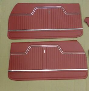 1970 Chevelle Coupe Ss 396 Front Interior Door Panels Red in Stock