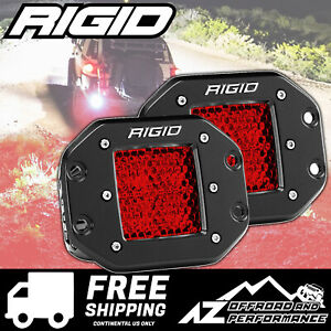 Rigid Industries D series Pro Led Light Bar Flush Mount Diffused Red Lens Pair
