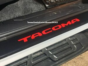 Fits Toyota Tacoma Door Sill Plate Cover Overlay Decal 2016 2017 2018 2019 2020