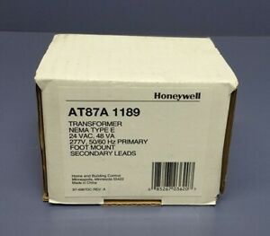 Honeywell At87a1189 Foot Mounted 277 Vac Transformer With 12 Lead Wires