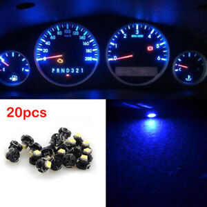 20pcs T4 T4 2 Instrument Led Bulbs 1smd Light Neo Wedge Gauge Dash Lights Blue
