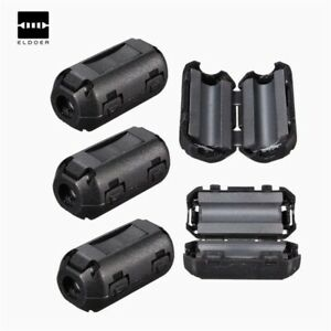 10pcs Electric Unit Removable Clip On Black Ferrite Around Snap Filter Wire
