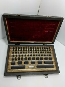 Hdt Solid Carbide Federal Grade 3 Block Gage Set 81 Pieces Block 4 In Complete