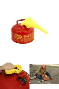 Eagle 2 gallon Metal Gasoline Safety Can Gas Fuel Tank Galvanized Steel W funnel