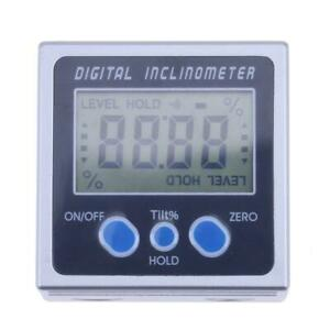 Digital Inclinometer Protractor Angle Electronic 360 Pro Base Magnets Three With