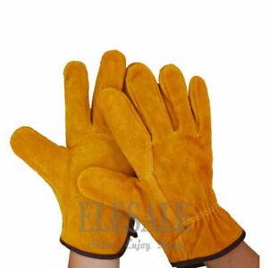 Cowhide Leather Welding Gloves Work Welder For Anti heat Fireproof Protection