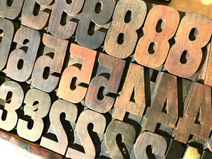 Vintage 31 Wood Numbers Letterpress Print Type 3 3 5 16 Printing Press Lot