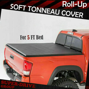 Fits 2016 2019 Toyota Tacoma Lock Soft Roll Up Tonneau Cover 5ft 60 Short Bed