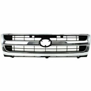 For 1997 1998 1999 2000 Toyota Tacoma 2wd Grille 2wd Chrome gray