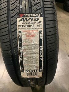 2 New 215 60 15 Yokohama Avid Touring S Tires