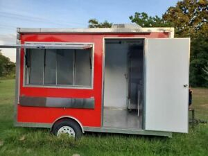 Nice And Clean 8 X 12 Food Concession Trailer Sparkling Mobile Food Unit For