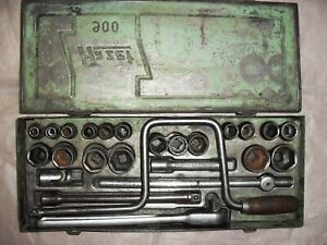 Hazet 900 Ratchet Socket Set 1 2 Square Drive Metric Mercedes Benz Gullwing Tool