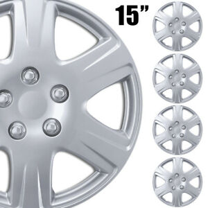 4pc Set Of 15 In Hubcaps Car Wheel Covers Tire Rim Hub Cap For Replacement