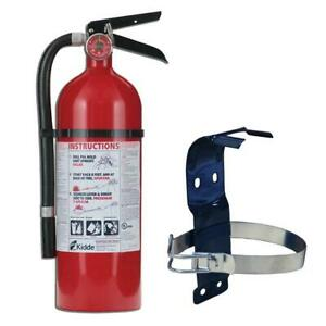 Fire Extinguisher With Mounting Bracket Dry Chemical Residential 2a 10 bc New