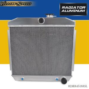 For 55 57 Chevy Bel Air Nomad 150 210 Del Ray 2 Core Light Aluminum Radiator