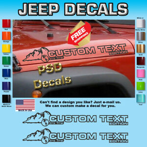 Hood Vinyl Decal Graphics Fits Jeep Wrangler Sh 214