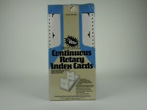Rediform Continuous Rotary Index Cards 500 Pieces New In Box 5x3 Rolodex Refill