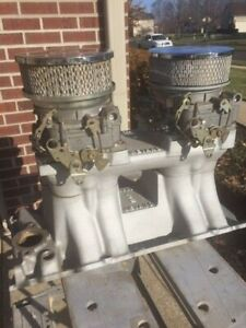Bbc Chevy Weiand Tunnel Ram Intake Manifold 396 502 Oval Port Carbs Filters