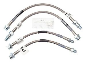 Russell 692000 Stainless Steel Braided Brake Line Hose Kit Corvette 1963 1982