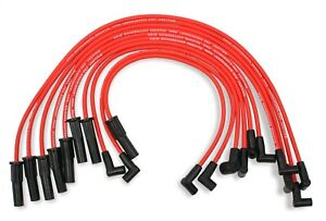 Mallory 611 8mm Red Pro Wire Spark Plug Wire Set Small Block Ford 302 351w Hei