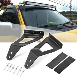 For Ford F 150 Svt Raptor Roof Windshield 52 Curved Led Light Bar Bracket Mount