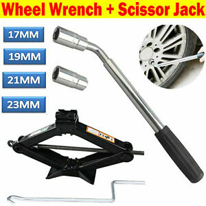 2ton Car Garage Tire Wheel Wrench Scissor Jack Crank Speed Handle Lifting Tool