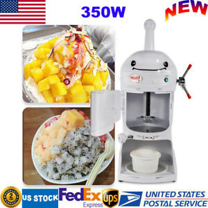 Commercial Electric Ice Shaving Machine Snow Cone Maker Ice Shaver Crusher 350w