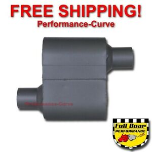 Single Chamber Performance Exhaust Race Muffler Full Boar O o 2 25 Fb430