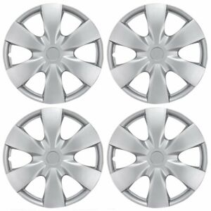Full Set Of 15 Silver Hub Caps Wheel Cover Oem Hubcaps Replacement 4 Pack