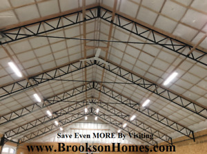 7 Steel Trusses For 40 X 72 Building 12 Centers For Pole Barn